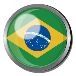 Brazil flag badge