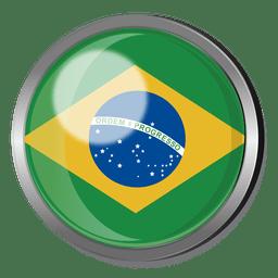 Brazil flag badge