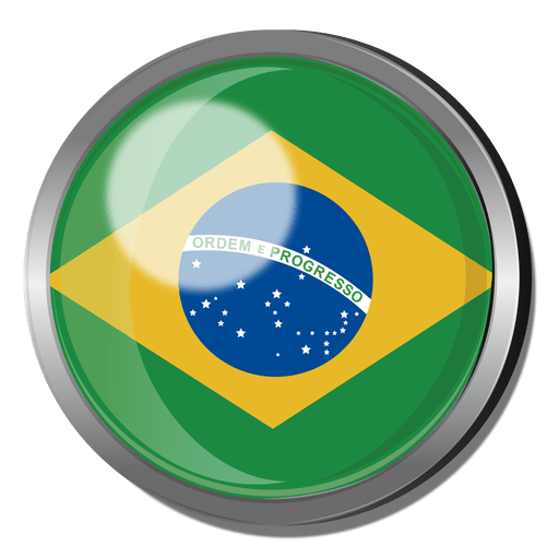 Brazil flag badge Transparent PNG