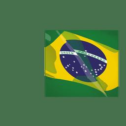 Brasilien-Flaggenkarikatur