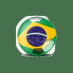Futebol de bandeira do brasil