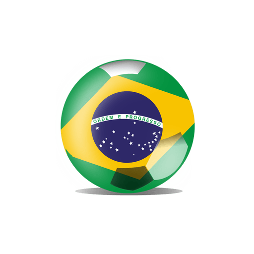Brazil flag football Transparent PNG