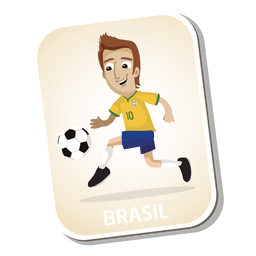 Brazil football player cartoon