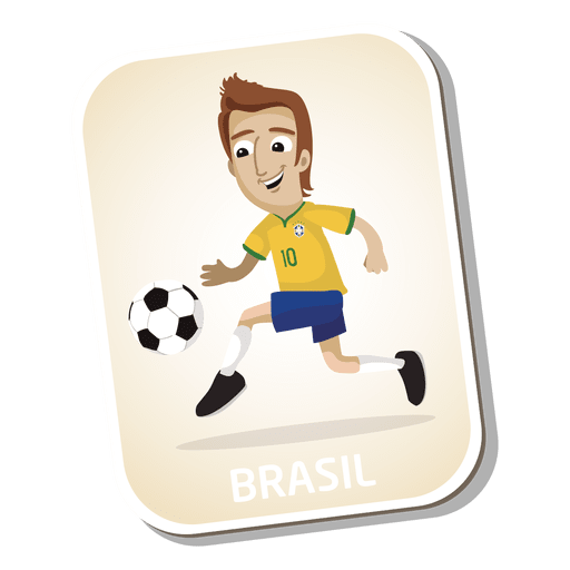 Brazil football player cartoon Transparent PNG