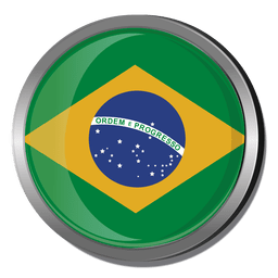 Bandera redonda de brasil