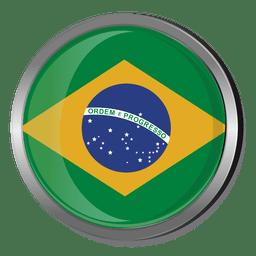 Brasilien runde Flagge