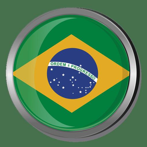 Brazil round flag Transparent PNG