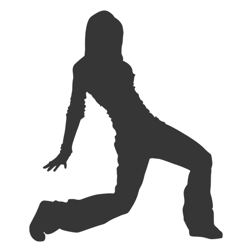 Break dancer silhouette Transparent PNG