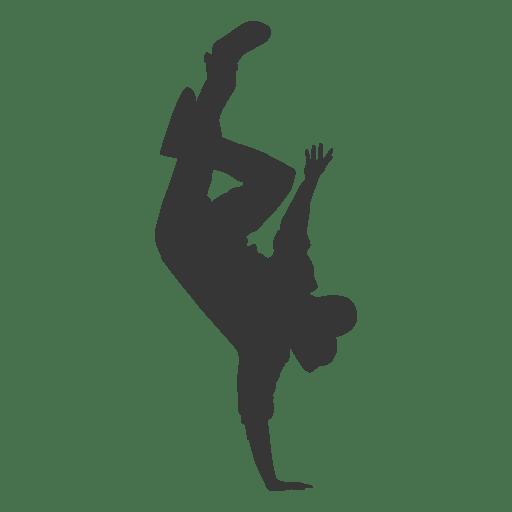 Break dancer silhouette 1 Transparent PNG