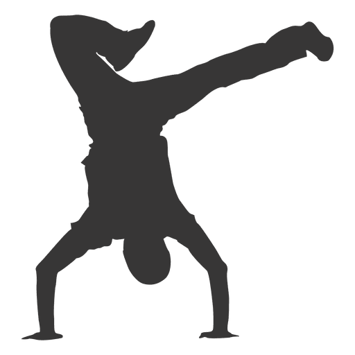 Break dancing silhouette Transparent PNG