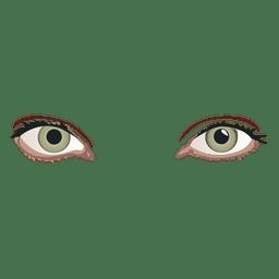 Ojos de mujer brillante