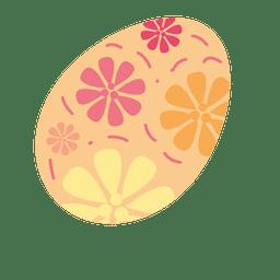 Brown floral easter egg