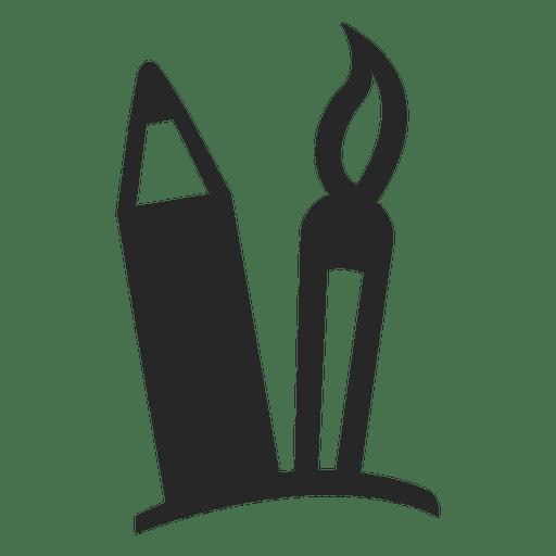 Brush pencil icon