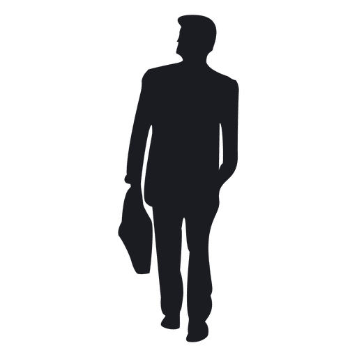 Businessman carrying briefcase silhouette Transparent PNG