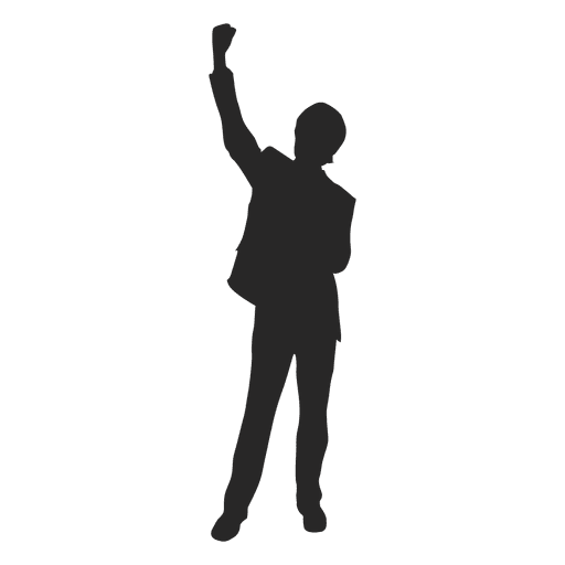 Businessman celebrating success Transparent PNG