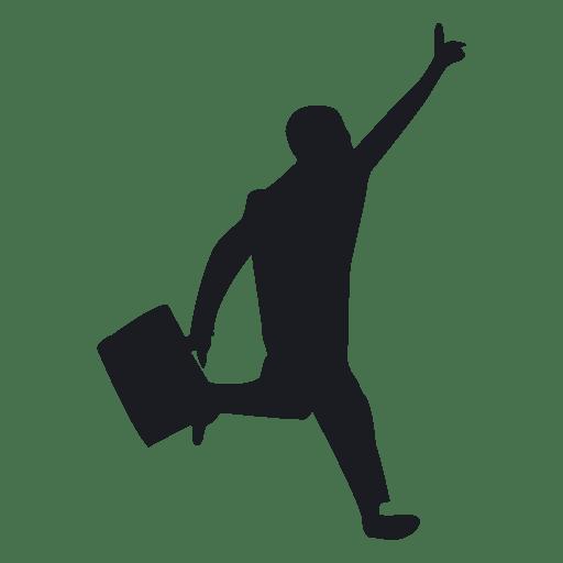 homem ocupado correndo silhueta baixar png svg transparente