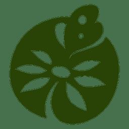 Schmetterling Pflanze Symbol