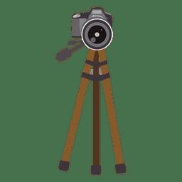 Câmera no tripé