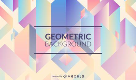 Fondo geométrico en tonos pastel