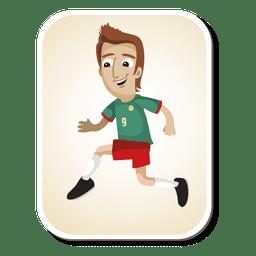 Dibujos animados de jugador de fútbol de Camerún