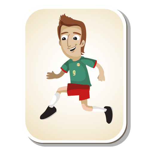 Dibujos animados de jugador de fútbol de Camerún Transparent PNG