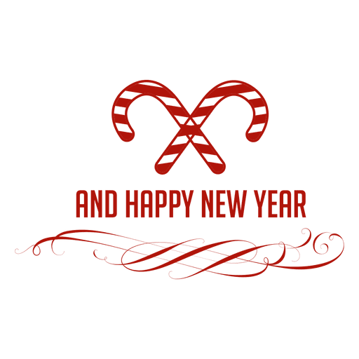 Candycane new year badge Transparent PNG