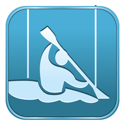 Canoe slalom square icon