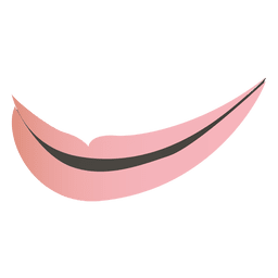 Cartoon pink lips