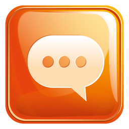 Chat application square icon 3