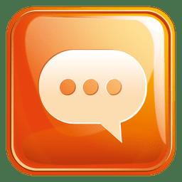 Ícone quadrado aplicativo de bate-papo 3