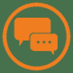 Icono de servicio de chat