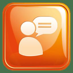 Bate-papo suporte quadrado ícone 3