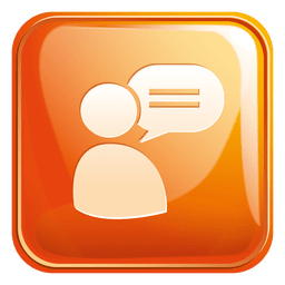 Chat support square icon 3