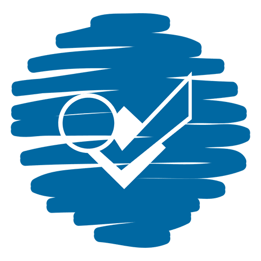 Check dot distorted round icon Transparent PNG