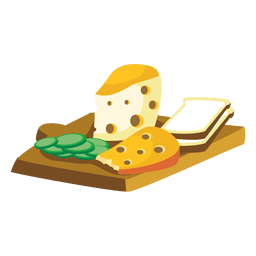 Cheese bread cartoon