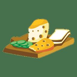 Dibujos animados de pan de queso