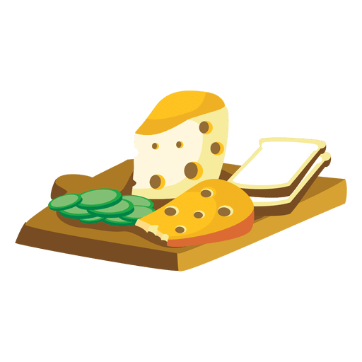 Cheese bread cartoon