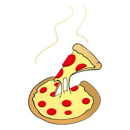 Dibujos animados de pizza de queso