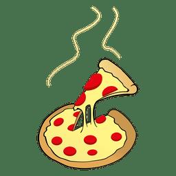Käsepizza-Karikatur