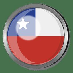 Crachá bandeira do chile