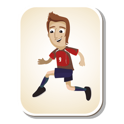 Chile football player cartoon