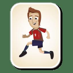 Desenhos animados de jogador de futebol do Chile