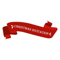 Christmas invitation ribbon