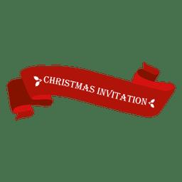 Christmas invitation ribbon