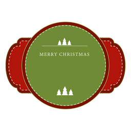 Red and green christmas label or ribbon