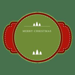 Roter und grüner Weihnachtsaufkleber oder -farbband