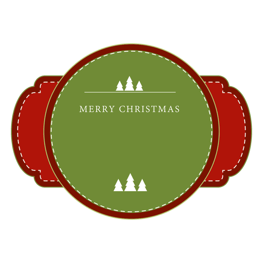 red and green christmas label or ribbon transparent png svg vector