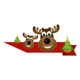 Christmas reindeer ribbon