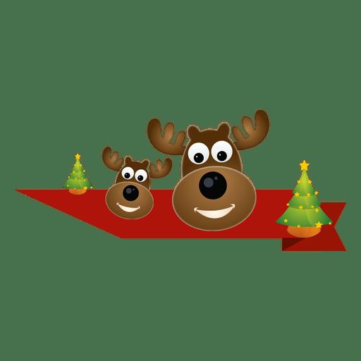 Christmas Reindeer Png.Christmas Reindeer Ribbon Transparent Png Svg Vector