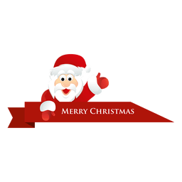 Christmas santa ribbon